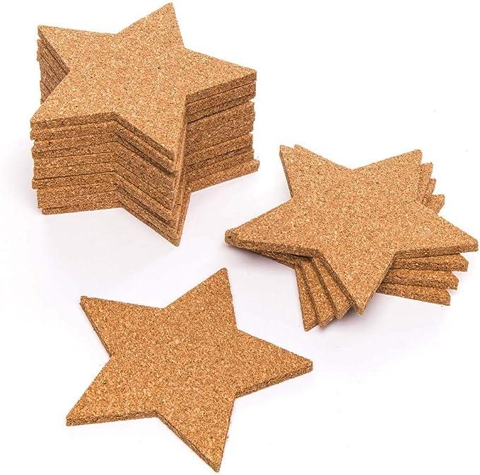Baker Ross Pack de posavasos de corcho en forma de estrella (pack de 30) para manualidades y decoraciones navideñas infantiles: Amazon.es: Juguetes y juegos
