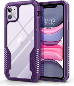 MOBOSI Vanguard Armor Designed for iPhone 11 Case, Rugged Cell Phone Cases, Heavy Duty Military Grade Shockproof Drop Protection Cover for iPhone 11 6.1 Inch 2019 (Purple)