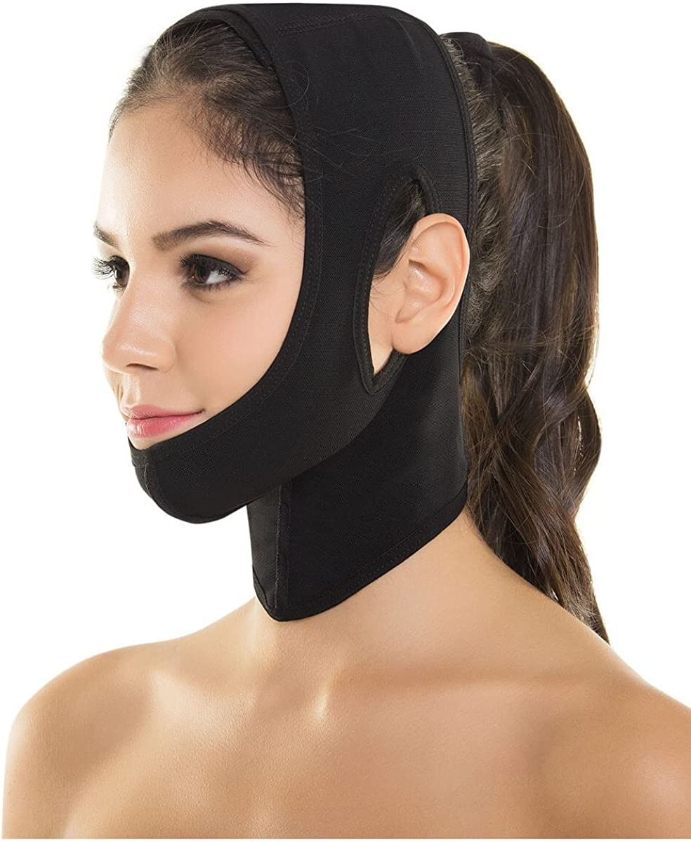 Face Neck Chin Coverage Adjustable Compression Wrap Fajate Post Surgery Facial