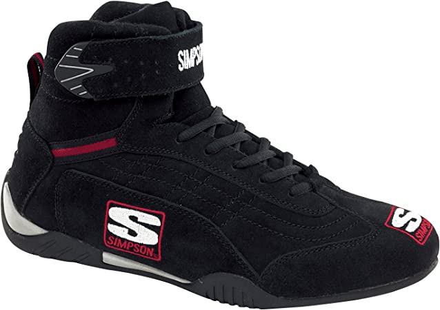 Simpson Racing 28115BK The Hightop Black Size 11-1//2 SFI Approved Driving Shoes