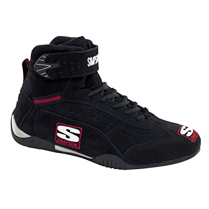 Simpson Racing Shoes >> Simpson Racing Ad105bk Adrenaline Black Size 10 1 2 Sfi Approved Driving Shoes