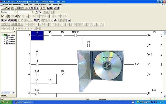 amazon com programming software gx dev fx 8 25 1000 steps ladder