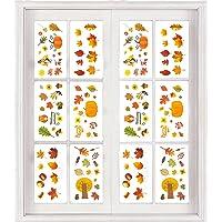 AIEX 150 Stuks Herfstbladeren Raamstickers Thanksgiving Raam Kleeft Herfstbladeren Thanksgiving Decoraties…