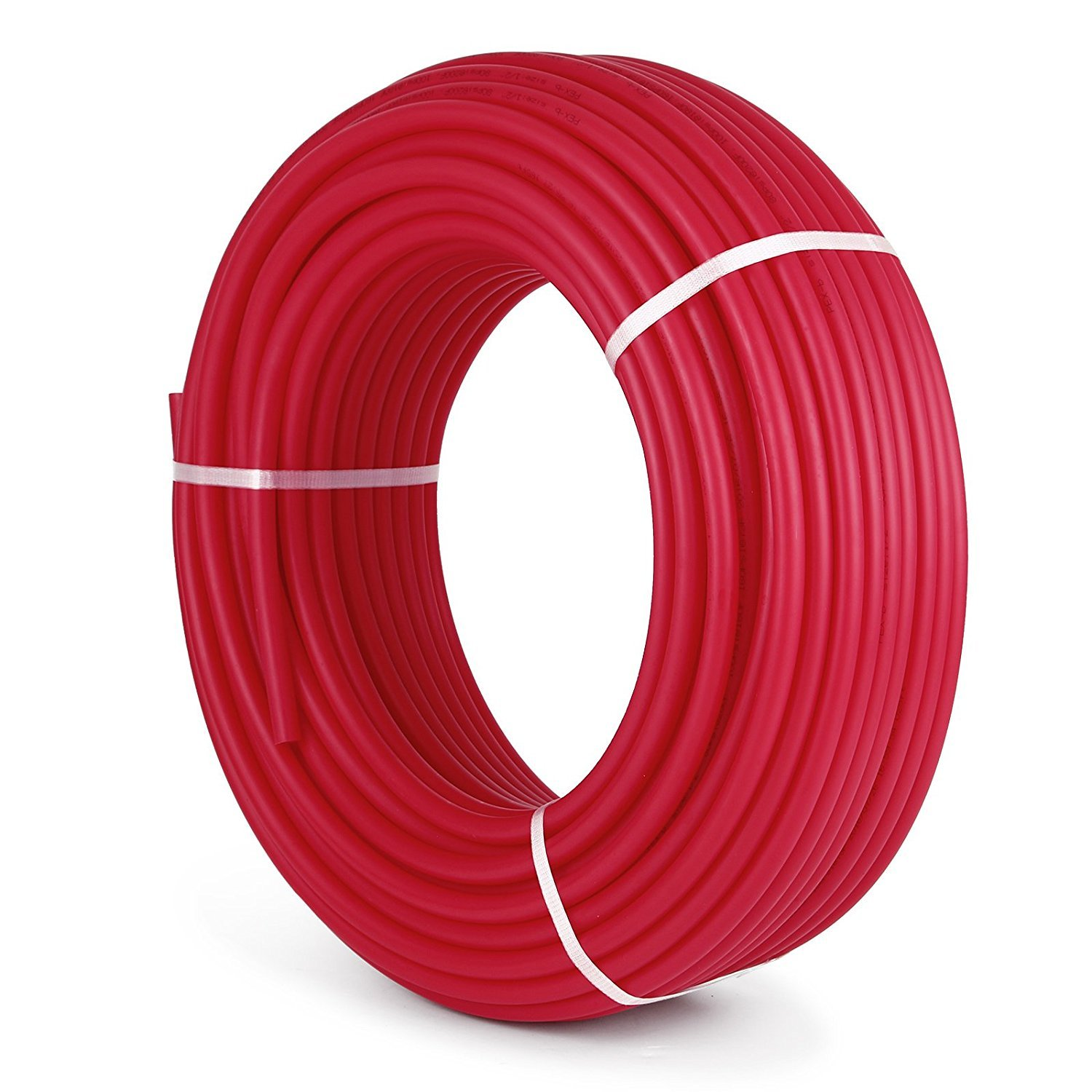 Libra Supply 3/4 inch x 300 ft PEX-B Tubing Non Barrier Potable Water Tube(Click in for more size & length options) for Hot & Cold Potable Water & Radiant Floor Heating Application - Red, 3/4''
