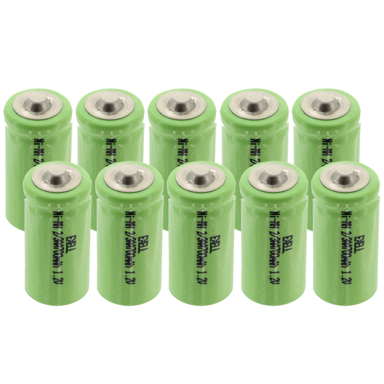10x Exell 1.2V 2/3AA Size 700mAh NiMH Rechargeable Button Top Batteries use with high power static applications (Telecoms UPS and Smart grid) radio controlled devices electric tools electric mopeds by Exell Battery