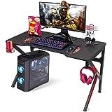 """Gaming Desk, SIMBR 48"""" K-Frame Design Computer Desk, Large Workstation Gaming Table for Gaming Laptop, Office PC Gamer…"""