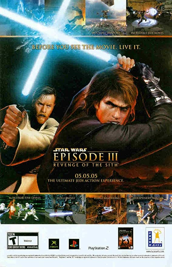 Amazon Com Star Wars Episode Iii Revenge Of The Sith Video Game Great Original Print Ad Other Products Posters Prints
