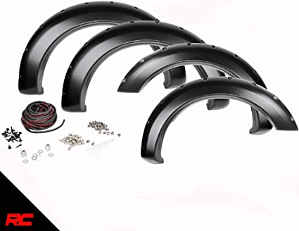 Rough Country Pocket Style Fender Flares w// Rivets Ford F-150 F-F11511