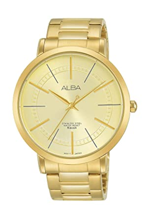 5e70c04ce Alba Casual Watch For Men Analog Yellow Gold Plated - AH8398X1 ...