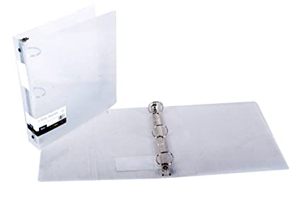 amazon com filexec products 1 inch 3 ring binder clear pack of 2