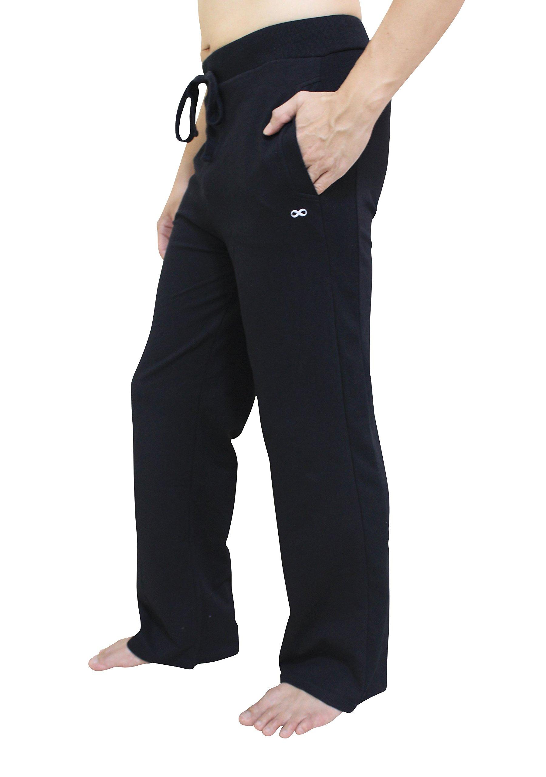YogaAddict Men's Yoga Long Pants, Black - Size M by YogaAddict