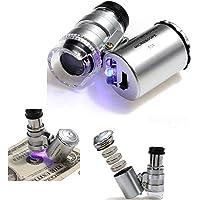 Mini Microscopio Monoculo con Luz Led y Lupa