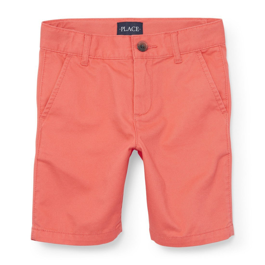 The Children's Place Big Boys' Chino Short, Carnation Coral 4740, 7