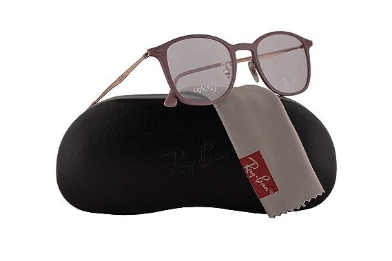 52d8edb3fe6 Amazon.com  Ray Ban RX7051 Eyeglasses 47-20-140 Purple w Demo Clear ...