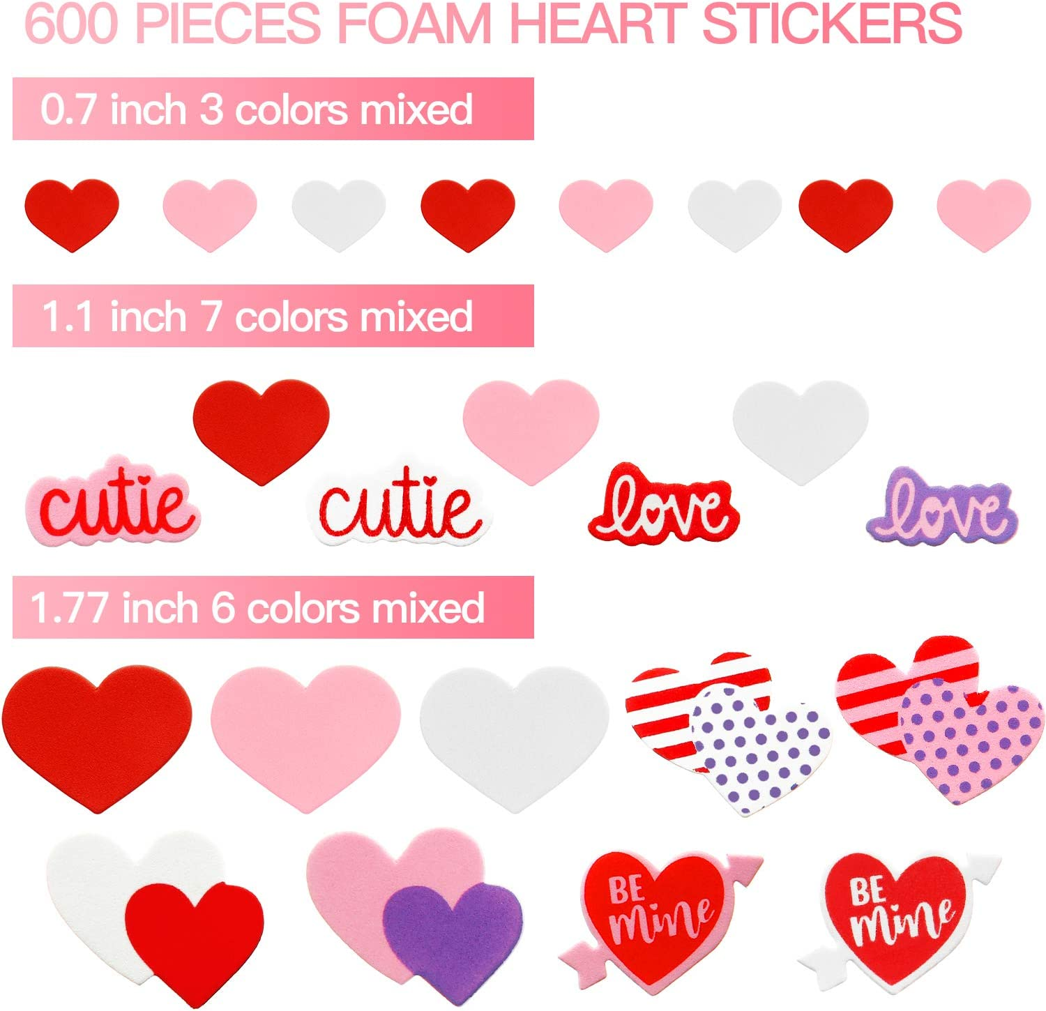 Pink Love Heart 65 Personalised Mini Address labels Handmade etc