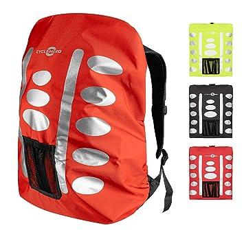Mochila impermeable (varios tamaños/colores) con elementos reflectantes y bolsillo extra – impermeable