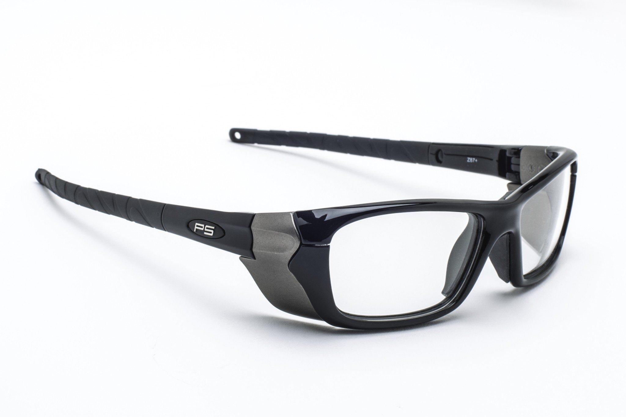 Designer Radiation Leaded Protective Eyewear in Full Rim Plastic Safety Frame - 54-18-135