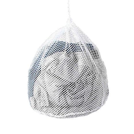 TELLW Bolsa para lavado, para chaquetas y suéteres grandes, malla de doble capa, resistente pero suave, bolsa para ropa de gran tamaño, Blanco, ...