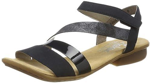 Neuestes Design offizieller Shop erstaunlicher Preis Rieker Damen V0473-14 Geschlossene Sandalen