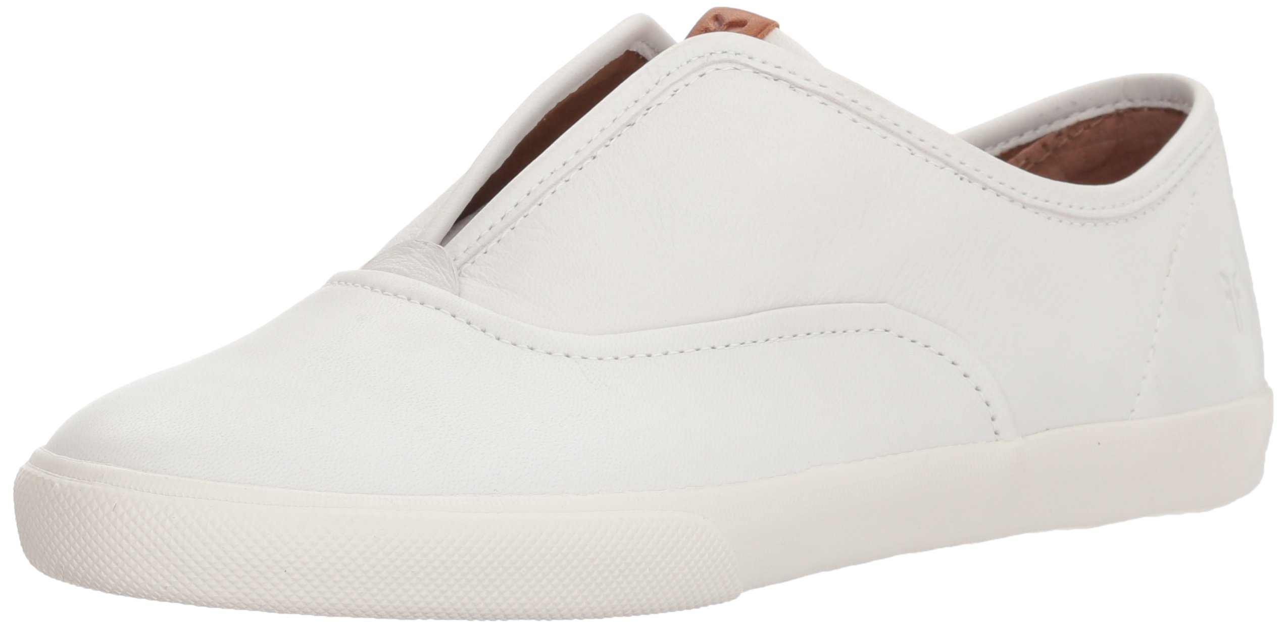 FRYE Women's Maya CVO Slip On Sneaker, White, 6 M US