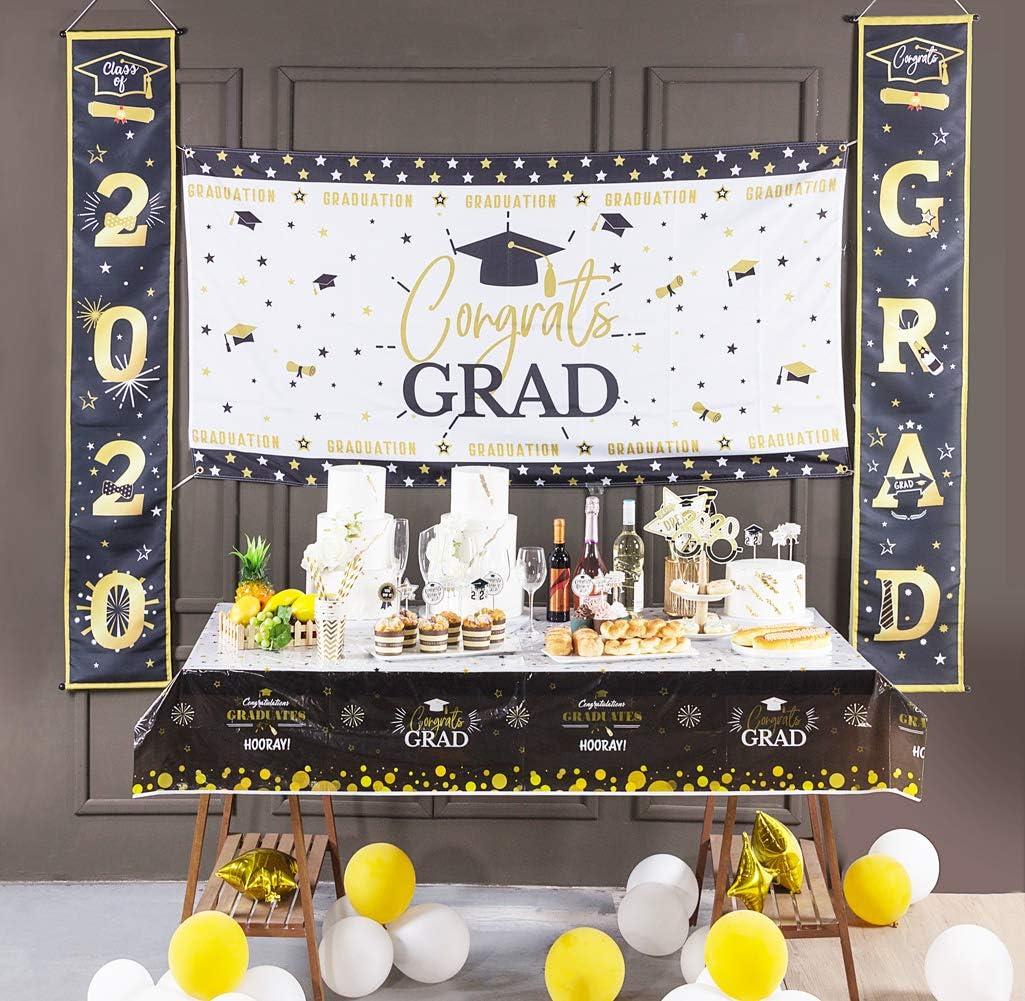 SUNBEAUTY 2020 Cerimonia di Laurea Porta Banner Graduazione Portico Segno Graduazione Celebrazione Graduazione Decorazione