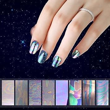 Amazon C Pioneer 8pcs Galaxy Nail Art Transfer Wrap Foil Nail