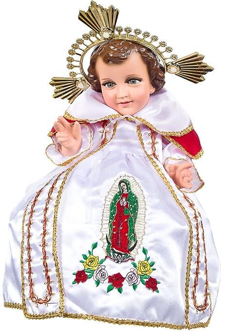 Niño Guadalupana. Traje para niño dios. Bebé Jesús vestido: Amazon ...