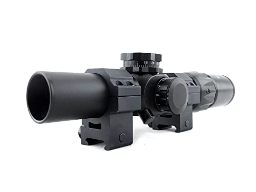 Monstrum Tactical 1-6x24 First Focal Plane (FFP) Rifle Scope with Illuminated BDC Reticle