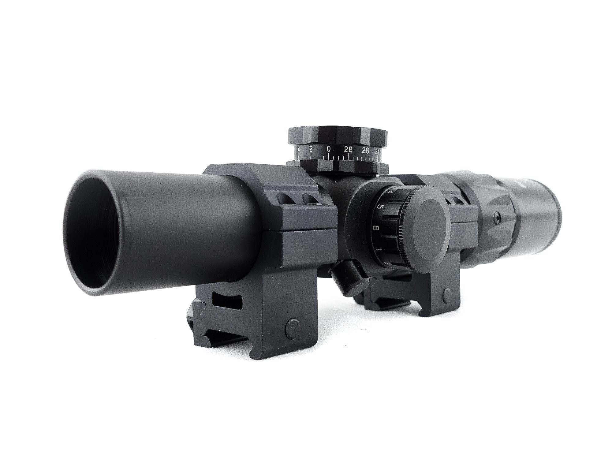 Monstrum Tactical 1-6x24 First Focal Plane (FFP) Rifle Scope with Illuminated BDC Reticle (Black)