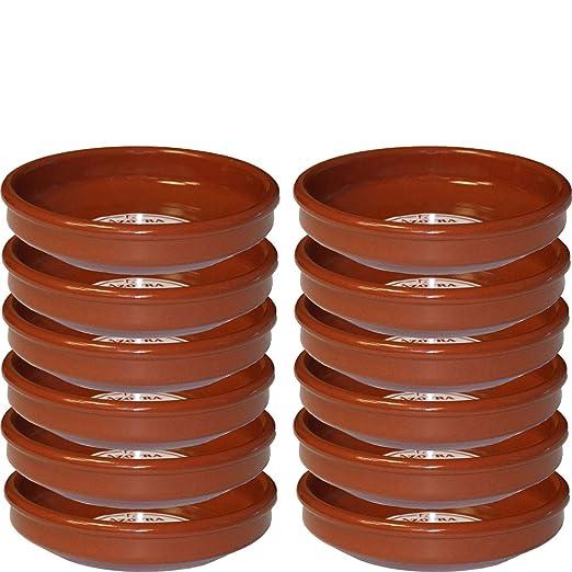Pack de 12 cazuelas de barro 24 cm apta para vitro: Amazon ...