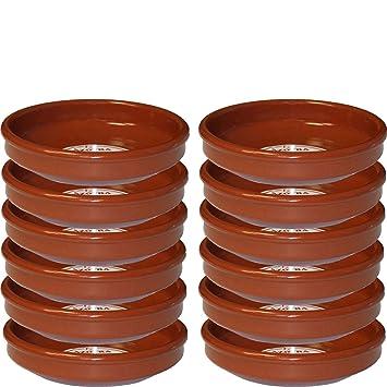 Pack de 12 Cazuelas de barro 18 cm apta para vitro