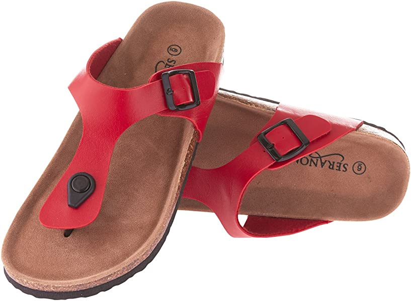 ac866a03f86cee Seranoma Women s Thong Cork Sandal