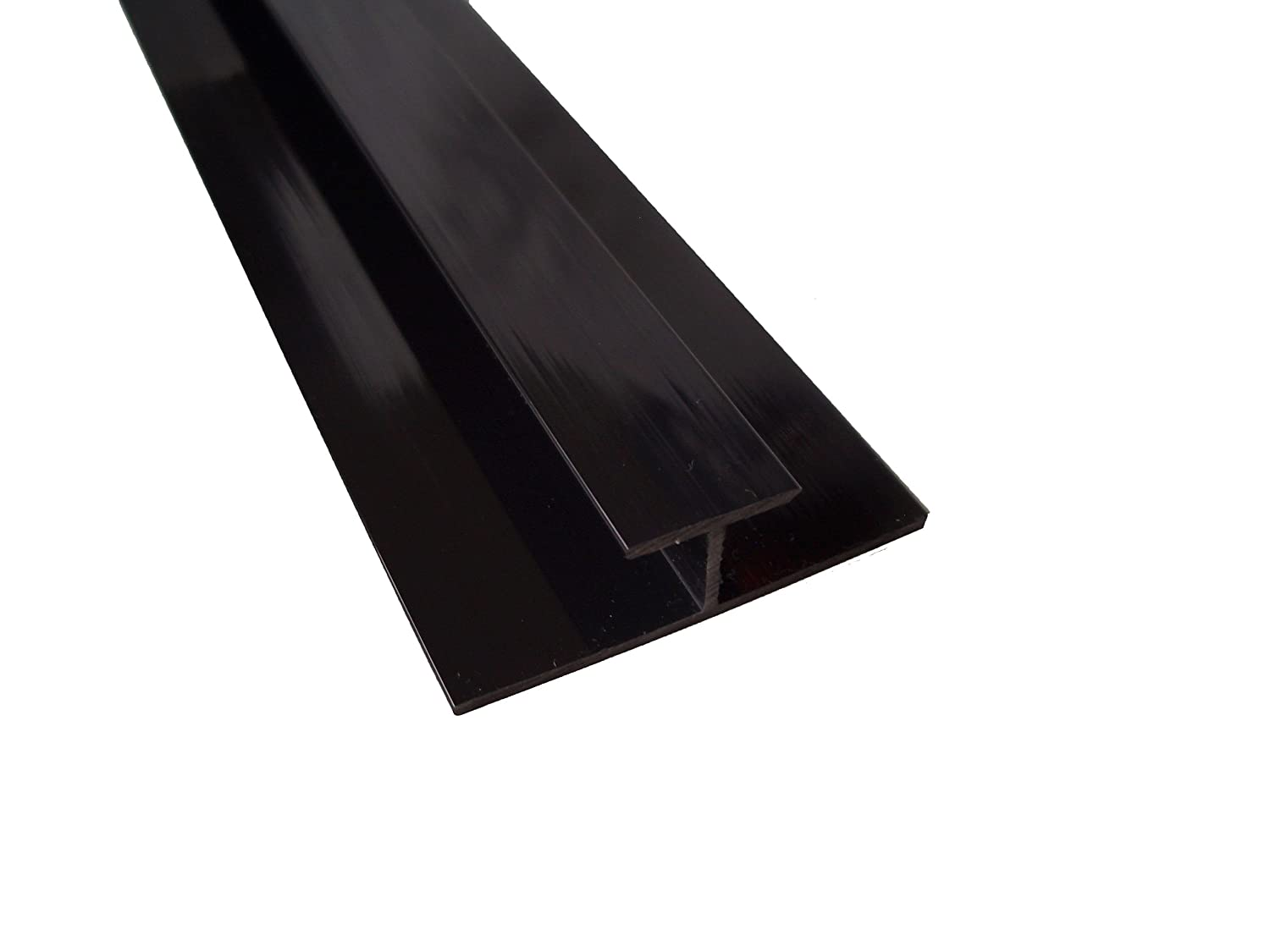 Black Panel Trim Perfect For Bathroom Kitchen Shower Wall PVC Cladding Panels-10mm H Extender Black Edging Trim-100/% Waterproof-Use with Claddtech Adhesive