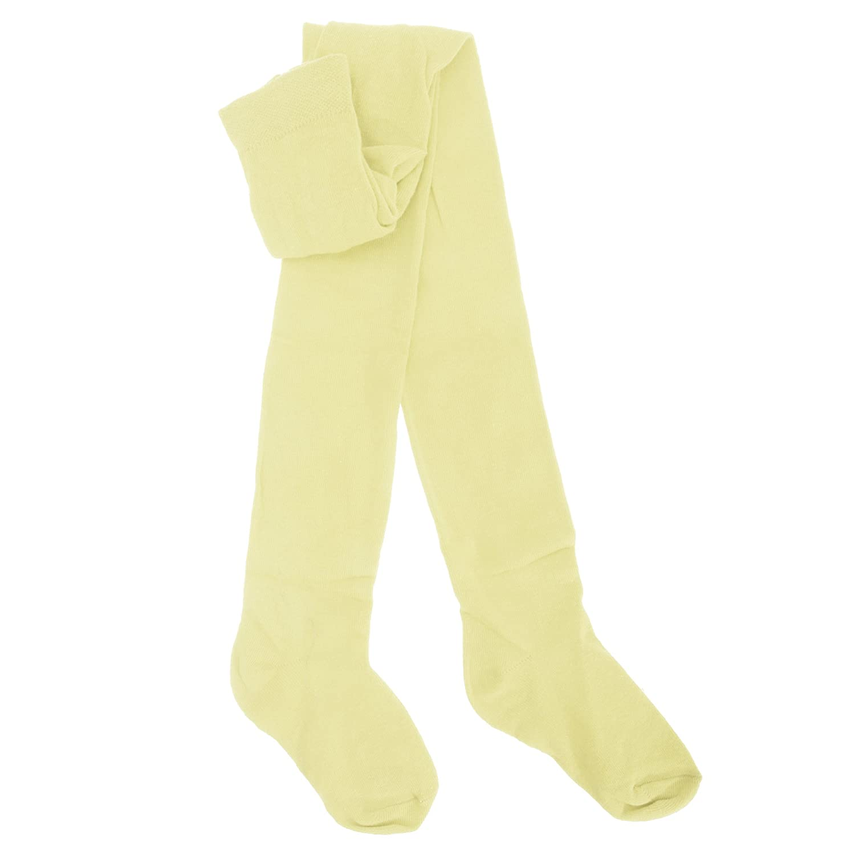 Childrens Girls Plain Cotton Rich Tights Universal Textiles