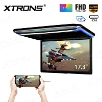 XTRONS® 17.3 Inch 16:9 Ultra-thin FHD Digital TFT Screen 1080P Video Car Overhead Player Roof Mounted Monitor HDMI Port…