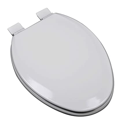 Prime Bath Decor 1F1E5 80 Premium Molded Wood Elongated Toilet Seat With Adjustable Hinge Osg Silver Gray Pabps2019 Chair Design Images Pabps2019Com