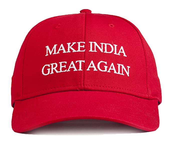 URBAN MONKEY Unisex Ferrari Red Make India Great Again Baseball Cap-Free  Size 29b1c21f9f7