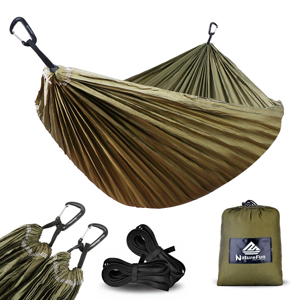 NatureFun Hamaca ultraligera para camping| 300kg de capacidad de carga, (300 x 200
