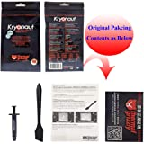 Thermal Grizzly Kryonaut-Thermal Paste/Thermal Conductivity: >12.5W/m-k Carbon Based High Performance, Heatsink Paste, Thermal Compound CPU for All Coolers, Thermal Interface Material - 1 Grams