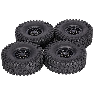 Goolsky 4Pcs AUSTAR AX-5020C 1.9 Inch 120mm Tires with Hub for 1/10 Traxxas Redcat SCX10 AXIAL RC4WD TF2 Rock Crawler (Black): Home & Kitchen
