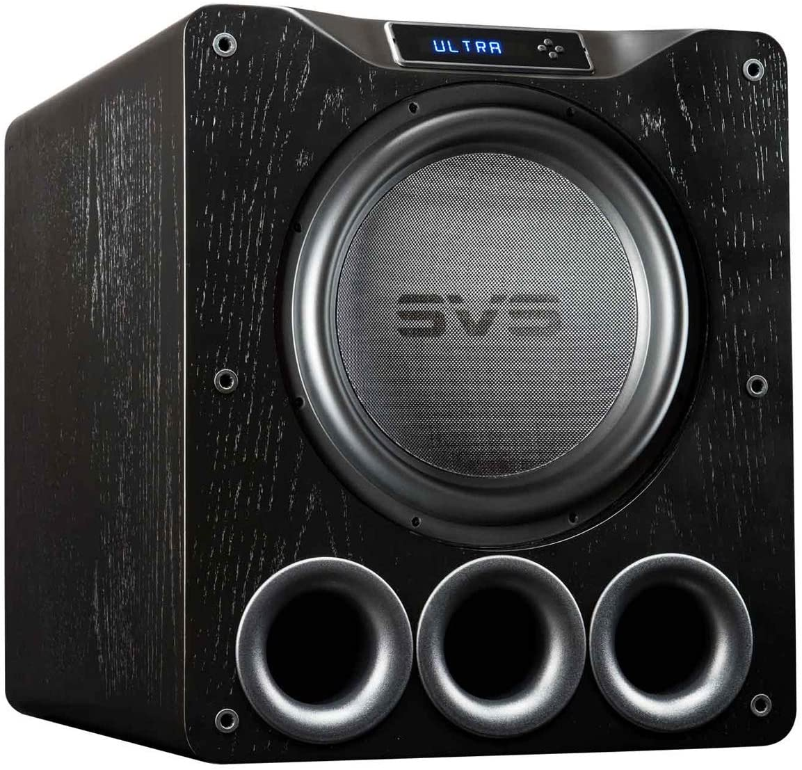 SVS PB16-Ultra – Black Oak Veneer Powered Subwoofer