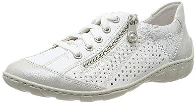 804c4224b Rieker Women's M37g6-80 Low-Top Sneakers: Amazon.co.uk: Shoes & Bags