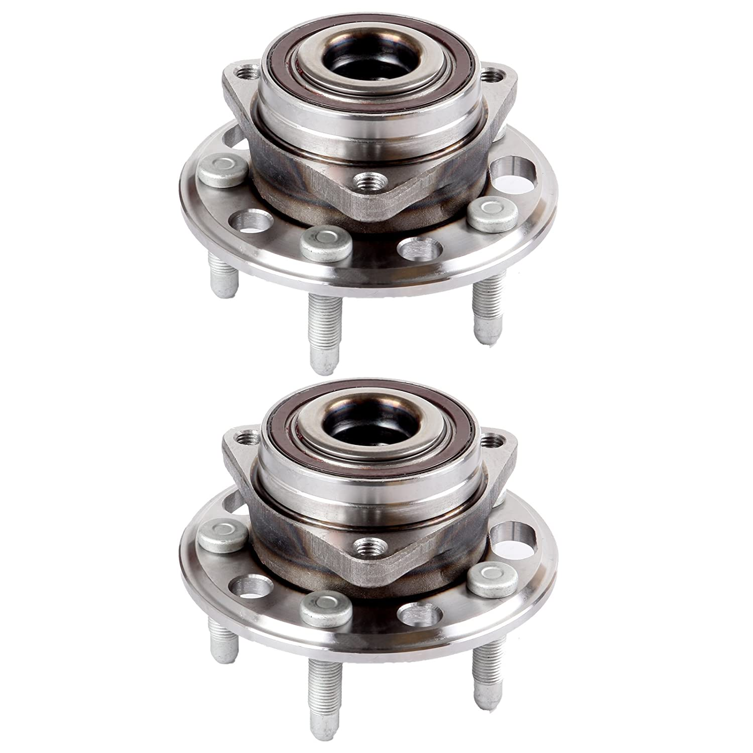 ECCPP Replacement for Pair of 2 New Complete Front Wheel Hub Bearing Assembly 5 Lugs w/ABS for 2010-2016 Buick Chevy 513288x2