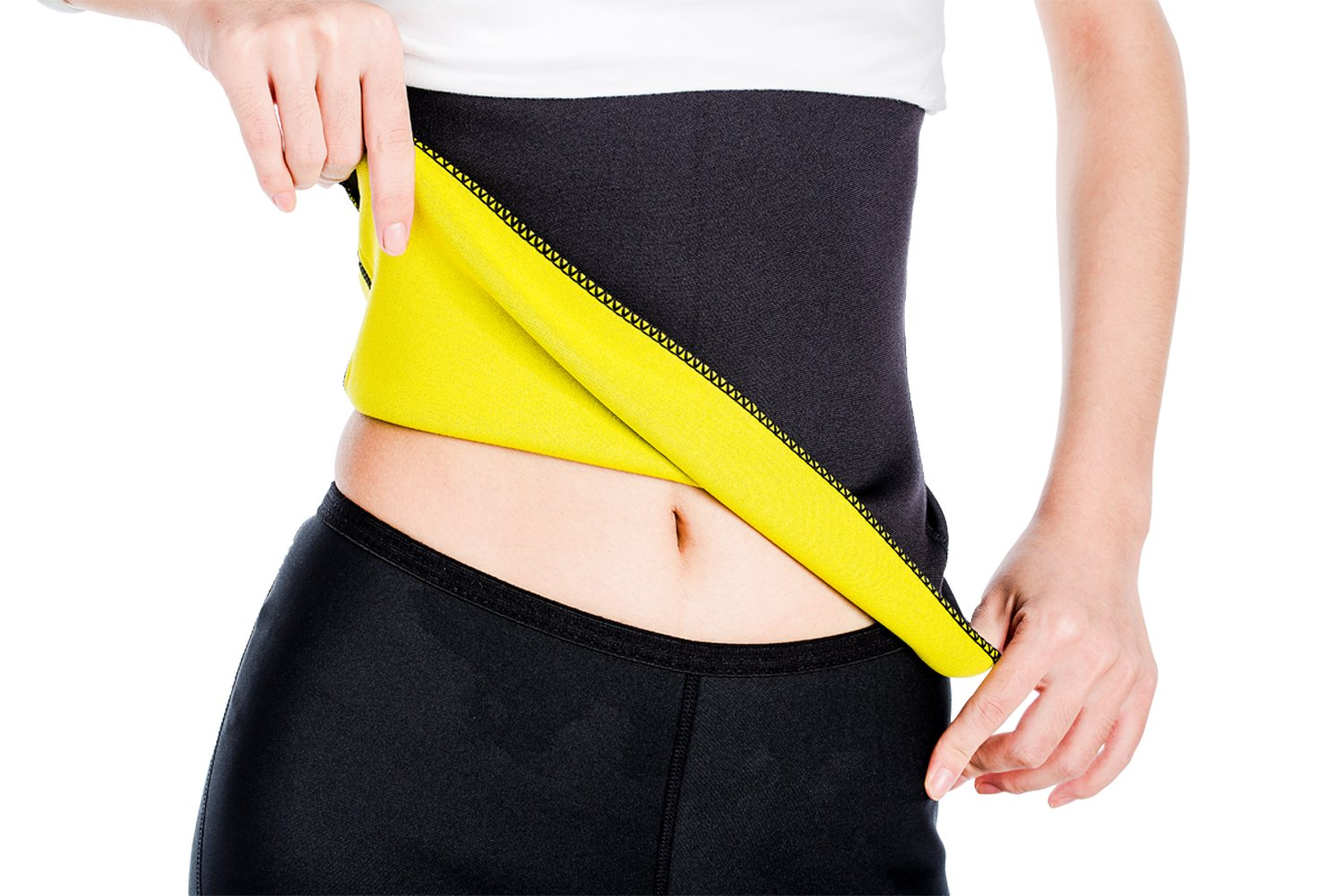 ValentinA Hot Thermo Sweat Neoprene Shapers Slimming Belt Waist Cincher Girdle For Weight Loss Women and Men, Small
