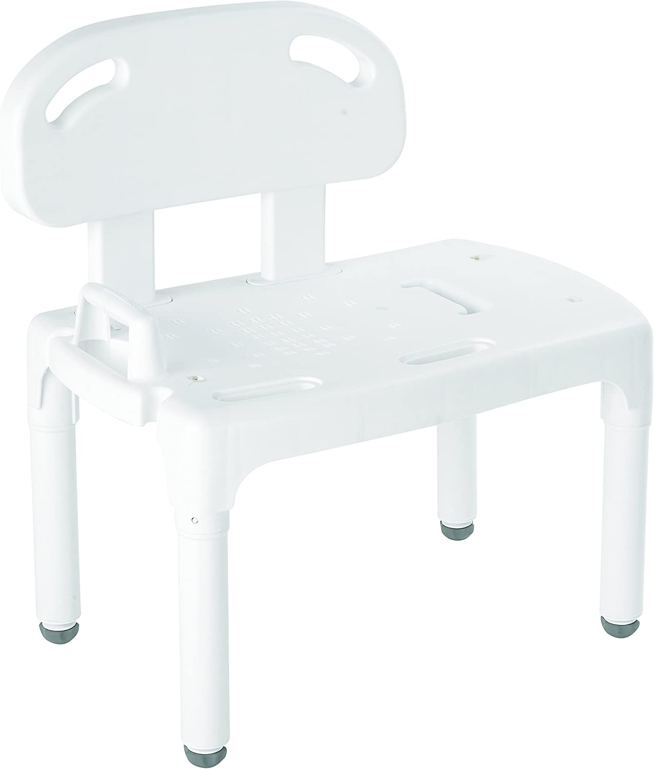 Carex Health Brands Universal Tub Transfer Bench - Shower Bench and Bath Seat - Chair Converts to Right or Left Hand Entry