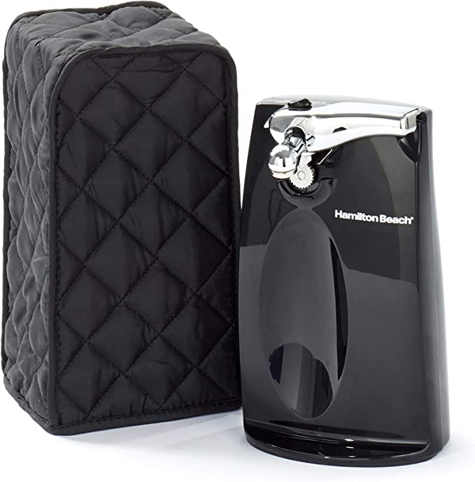 Dust Cover for Cuisinart and Hamilton Beach Electric Can Opener Dust and Fingerprint Protection Black Patent Design Cover Only Machine Washable VOSDANS Can Opener Cover