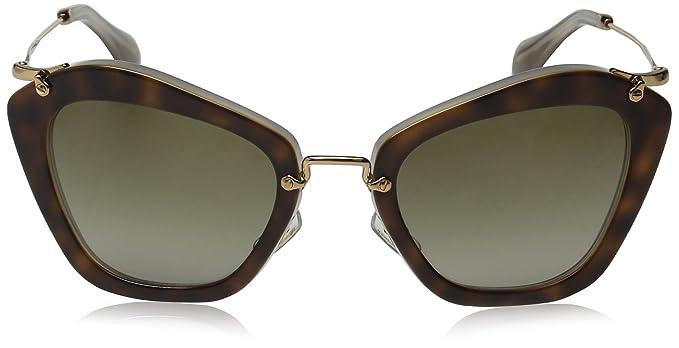 Miu Miu Womens Matte Cat Eye Sunglasses