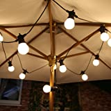 Extendable Festoon Lights - 20 LEDs - Frosted Bulb - Warm White - 8m Black Cable by Festive Lights