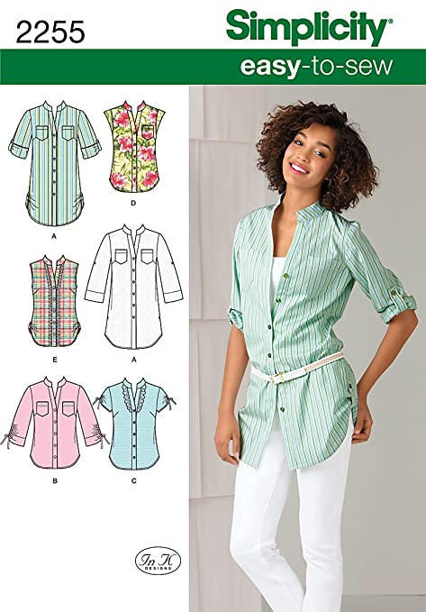 Simplicity H5 6-8-10-12-14 Sewing Pattern 2255 Misses Easy to Sew ...