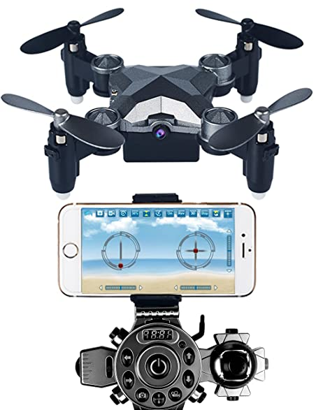 Arvin Remote Control Drone Portable Mini Helicopter With Wearable Watch Foldable 4 Axis